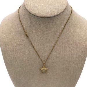 Juicy Couture Starfish Rhinestone Necklace